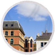 Leeds Buildings Round Beach Towel