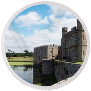 Leeds Castle Round Beach Towel
