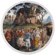 Legacy And Death Of Moses Round Beach Towel