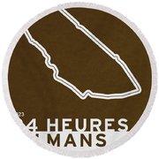 Legendary Races - 1923 24 Heures Du Mans Round Beach Towel