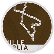 Legendary Races - 1927 Mille Miglia Round Beach Towel