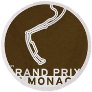 Legendary Races - 1929 Grand Prix De Monaco Round Beach Towel
