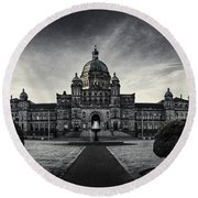 Legislature Building British Columbia Victoria Round Beach Towel