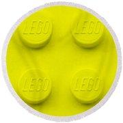 Lego Block Yellow Round Beach Towel
