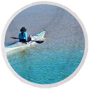Leisure On The Lake Round Beach Towel
