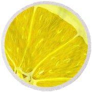 Lemon Round Beach Towel by Anastasiya Malakhova