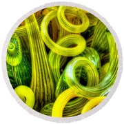 Lemon And Lime Round Beach Towel
