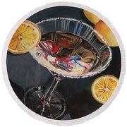 Lemon Drop Round Beach Towel