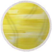 Lemon Slices Abstract Square Round Beach Towel