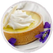 Lemon Tart  Round Beach Towel