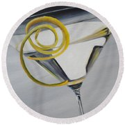 Lemontini Round Beach Towel