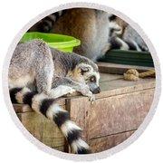 Lemur Round Beach Towel