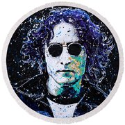 Lennon Round Beach Towel by Chris Mackie