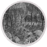 Lenox, Massachusetts, From Historical Collections Of Massachusetts, John Warner Barber, Engraved Round Beach Towel
