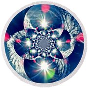Lens Flare Round Beach Towel