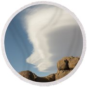 Lenticular Cloud Round Beach Towel