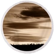 Lenticular Sunset 2 Round Beach Towel