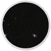 Leo I Galaxy Cluster Showing Messier Round Beach Towel