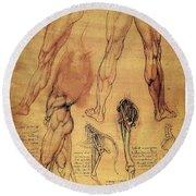 Leonardo: Legs, C1508 Round Beach Towel