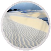 Leoncois Maranhenses Beauty Of Sand Round Beach Towel