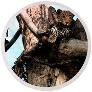 Leopard Spotted Round Beach Towel