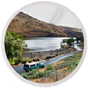Lepage Rv Park On Columbia River-or Round Beach Towel