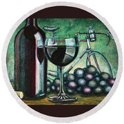 L'eroica Still Life Round Beach Towel by Mark Jones