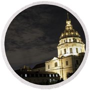 Les Invalides - Eglise Du Dome At Night - 2 Round Beach Towel