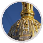 Les Invalides Dome Round Beach Towel