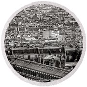Les Toits De Paris Round Beach Towel