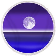 Less...........is More. Round Beach Towel