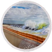 Let The Notes Tumble Round Beach Towel