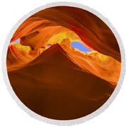 Let The Sunshine In The Canyons Round Beach Towel