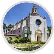 Let There Be Light Knowles Memorial Chapel 1 By Diana Sainz Round Beach Towel
