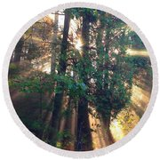 Let Your Light Shine Through Round Beach Towel