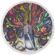 Let Your Music Flow In Harmony Round Beach Towel