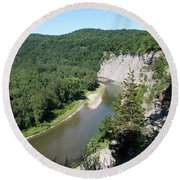 Letchworth State Park Genesee River I Round Beach Towel