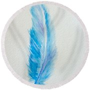 Let's Fly Away  Round Beach Towel
