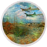 Let's Fly Round Beach Towel