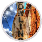 Bowling Pastime Round Beach Towel