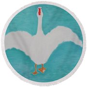 Lets Go For A Walk, 2000 Round Beach Towel