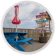 Let's Have A Picnic Jekyll Island Round Beach Towel