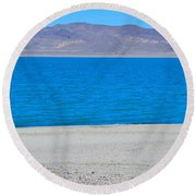 Let's Take A Picture Round Beach Towel