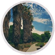 Let's Walk This Path Together Round Beach Towel