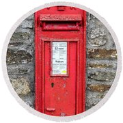 Victorian Red Letter Box Round Beach Towel