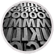 Letters Round Beach Towel