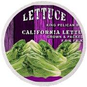Lettuce Farm Round Beach Towel