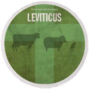 Leviticus Books Of The Bible Series Old Testament Minimal Poster Art Number 3 Round Beach Towel