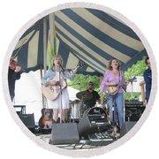 Levon Helm's Dirt Farmer Band Round Beach Towel