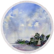 Leeward The Island Round Beach Towel